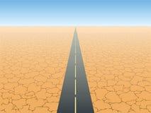 Desert. The road in the desert vector Royalty Free Stock Image