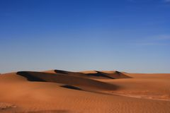 Desert. At the west of china Royalty Free Stock Photography