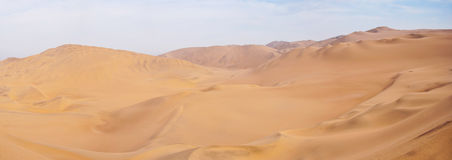 Desert. A panoramic of a desert in Ica, Peru Royalty Free Stock Image