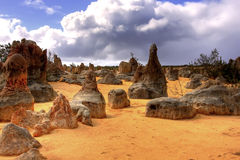 Desert. The pinnacles desert west-australia stock image