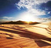 Desert. Sunrise in the Sahara desert Stock Image