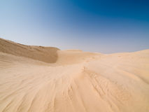 Desert. Empty desert and blue sky Stock Photography