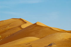 Desert. A resting place after a trip from Al Ain desert, United Arab Emirates Royalty Free Stock Image