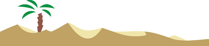 Desert. Vector graphic Royalty Free Illustration