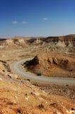 Desert. A road in the desert Stock Photo