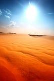 Desert. Sand under blue sunny sky royalty free stock photos