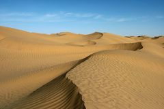 Desert. Taklamakan desert. Taklamakan is known as one of the largest sandy deserts in the world, ranking 15th in size in a ranking of the world's largest non Stock Images