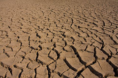 Desert. Cracked earth - concept image of global warming stock photo