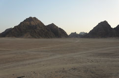 Desert in Africa. ATV safaris. Excursions in Egypt Royalty Free Stock Photos