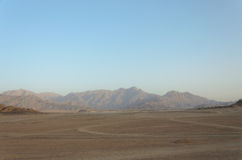 Desert in Africa. ATV safaris. Excursions in Egypt.  Royalty Free Stock Photos