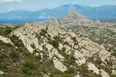 Desert of Agriates, Corsica Stock Images