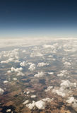 Desert from the air. View of Texas from the plane Royalty Free Stock Photo