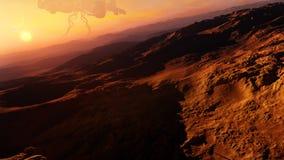 Desert Alien Planet Concept Stock Photography