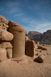 Desert ancient old city ruins. Desert, ancient city ruins, past glory, blue sky Stock Image
