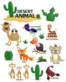 Desert animal vector set Royalty Free Stock Photo