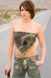 Desert Army Woman Royalty Free Stock Photos