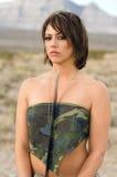 Desert Army Woman Stock Photo