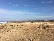 Desert. In Aruba Atlantic Ocean side Stock Images