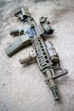 Desert Assault rifle Royalty Free Stock Photo