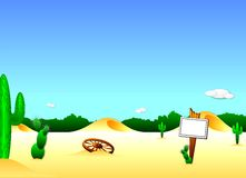 Desert Background. This is an illustrated background of a desert.  It can be used for just about anything Stock Photo