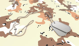 Desert Background Dog Tags Royalty Free Stock Photo