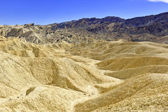 Desert Badlands Landscape, Death Valley, National Park Stock Photography
