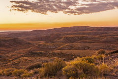 Desert badlands sunrise in Wyoming Stock Photography