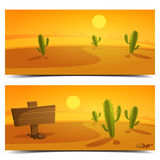Desert Banners Royalty Free Stock Photo