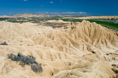 Desert of the Bardenas Reales Royalty Free Stock Photography