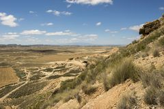 The desert of the bardenas reales Stock Image