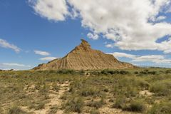 The desert of the bardenas Royalty Free Stock Images
