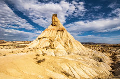 Desert of the Bardenas Reales in Navarre Stock Photography