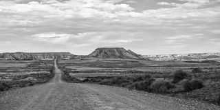 Desert of the Bardenas Reales in Navarre Royalty Free Stock Photography