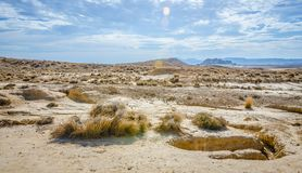 Desert of the Bardenas Reales in Navarre Stock Image