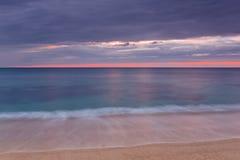 Desert beach. Under a stormy sky Stock Photo