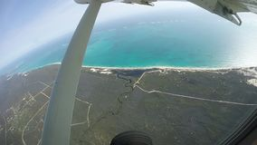 Desert beach - West Australia - Reef Barrier - aerial Stock Photography