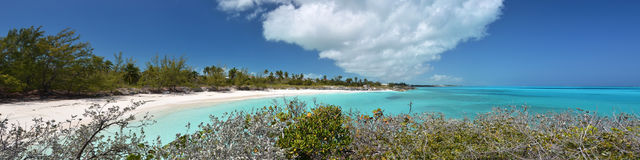 Desert beach of Little Exuma Royalty Free Stock Image