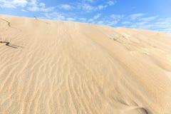 Desert with beautiful sky Stock Photos
