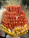 Desert in Beijing China candied fruit tanghulu. Desert in Beijing Republic of China Stock Photography