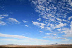 Desert big sky country Stock Images