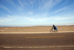Desert biker Royalty Free Stock Photos