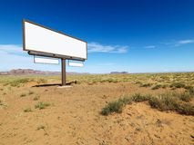 Desert billboard. Royalty Free Stock Images