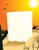 Desert Blank Board Stock Image