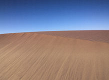 Desert with Blue Sky Stock Photography