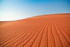 Desert and blue sky Royalty Free Stock Photos