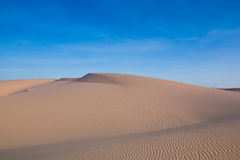 Desert and blue sky in Vietnam. Royalty Free Stock Photography