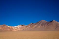 Desert, Bolivia. A desert scenery in the Bolivian andes, in the reserva Edoardo Avaroa Royalty Free Stock Photo