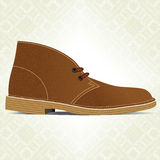Desert boot. Royalty Free Stock Images