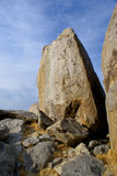 Desert Boulder in Mojave Stock Photo