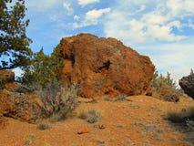 Desert Boulder. Rock formation at Rimrock Springs Wildlife Refuge - near Madras, OR Royalty Free Stock Images
